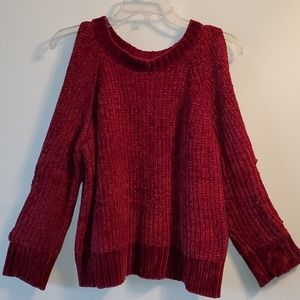 5/$30! CHENILLE ARM CUT OUT SWEATER